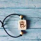 Oblivion Gate The Elder Scrolls Fan Art Bracelet Handmade Wood Burning Engraved Bangle Jewelry