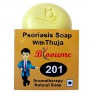 Blooume 201 Psoriasis Skin Care Soap with Thuja for Psoriasis, acne, pimples