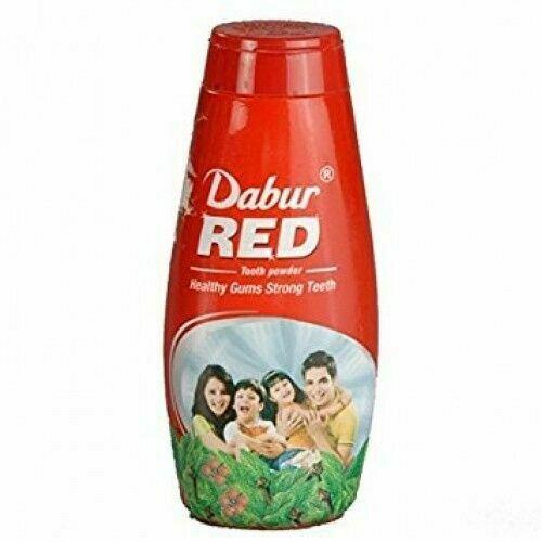 2x Dabur Red 60gm Ayurvedic Tooth powder Plaque Fresh Breath Strong Teeth Gum