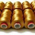 Silk Thread Desert Gold, Shiny 10 Spools for Embroidery Bangle Jhumka Jewelry IU