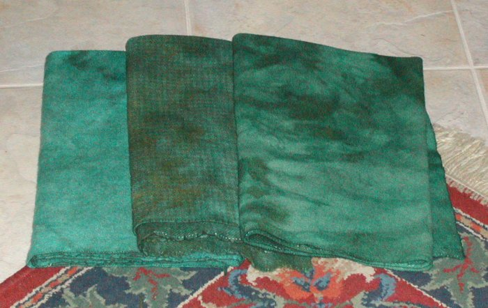 SPRIGS OF MINT overdye wool for rug hooking -- Woolly Mammoth Woolens