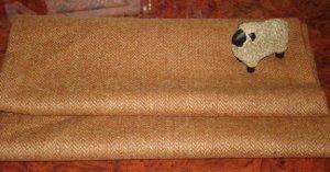 MEDIUM BROWN HERRINGBONE AS IS wool for rug hooking -- Woolly Mammoth Woolens