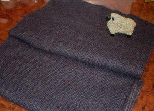 BLUE/BLACK as is wool for rug hooking -- Woolly Mammoth Woolens