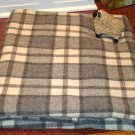 GRAY/CREAM plaid as is wool for rug hooking 1/8 yard -- Woolly Mammoth Woolens