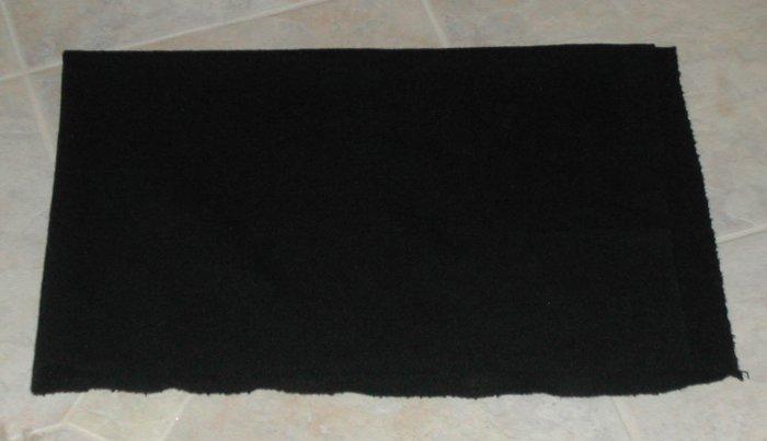 """BLACK """"as is"""" wool for rug hooking, 1/8 yard -- Woolly Mammoth Woolens"""