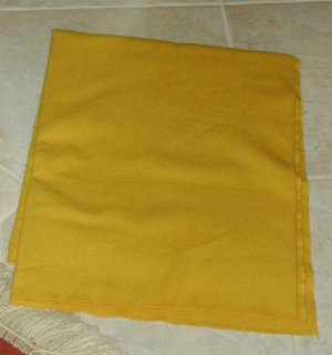 GOLDENROD as is 100% wool rug hooking - approx. 1/8 yard - small pieces -- Woolly Mammoth Woolens