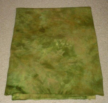 DARKER DANCING LEAVES spot dye wool rug hooking 1/4 yard -- Woolly Mammoth Woolens
