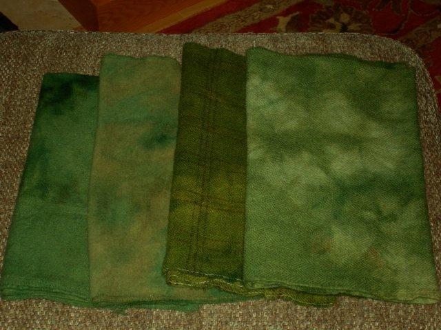 Cabin Pines wool rug hooking -- Woolly Mammoth Woolens