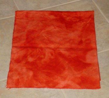 BLOOD ORANGE overdye wool rug hooking 1/4 yard -- Woolly Mammoth Woolens