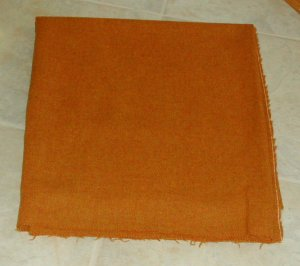 """PUMPKIN TEXTURE """"as is"""" wool for rug hooking and penny rugs -- Woolly Mammoth Woolens"""
