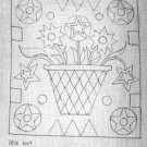 VASE OF FLOWERS pattern for rug hooking -- Woolly Mammoth Woolens