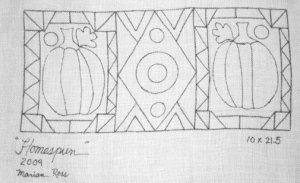 HOMESPUN rug hooking pattern -- Woolly Mammoth Woolens