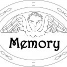 MEMORY TOMBSTONE rug hooking pattern -- Woolly Mammoth Woolens