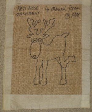 REINDEER pattern for rug hooking -- Woolly Mammoth Woolens