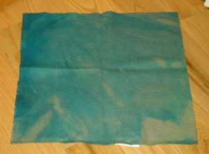 MOTTLED BLUE-GREEN overdye wool for rug hooking and penny rugs -- Woolly Mammoth Woolens