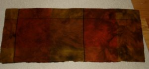 BAY COLT OVER PLAID overdye wool for rug hooking and penny rugs -- Woolly Mammoth Woolens