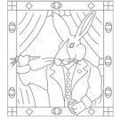 EASTER RABBIT rug hooking pattern -- Woolly Mammoth Woolens