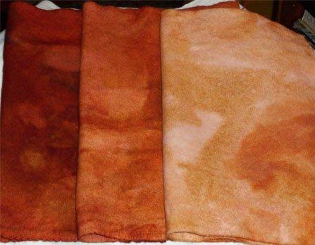 FALL OAK LEAVES wool grads for rug hooking -- Woolly Mammoth Woolens
