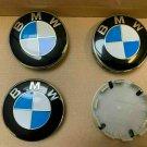4PCS Genuine 10 Pin BMW Emblem Logo Badge Hub Wheel Rim Center Cap 68mm Set of 4 covers