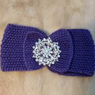 Purple Amazing Knitted Hair Accessories With Crystals And Rhinestones