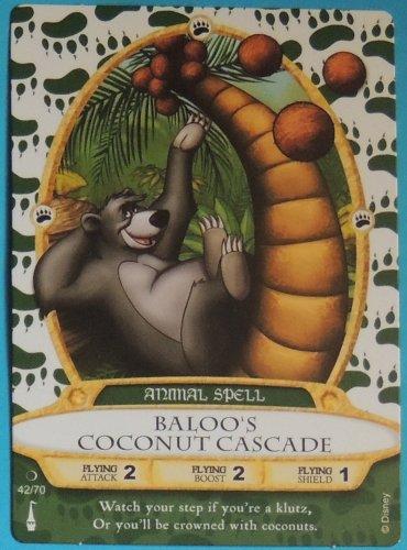 SORCERERS OF THE MAGIC KINGDOM Disney Spell Card BALOO'S COCONUT CASCADE #42 FREE SHIPPING World