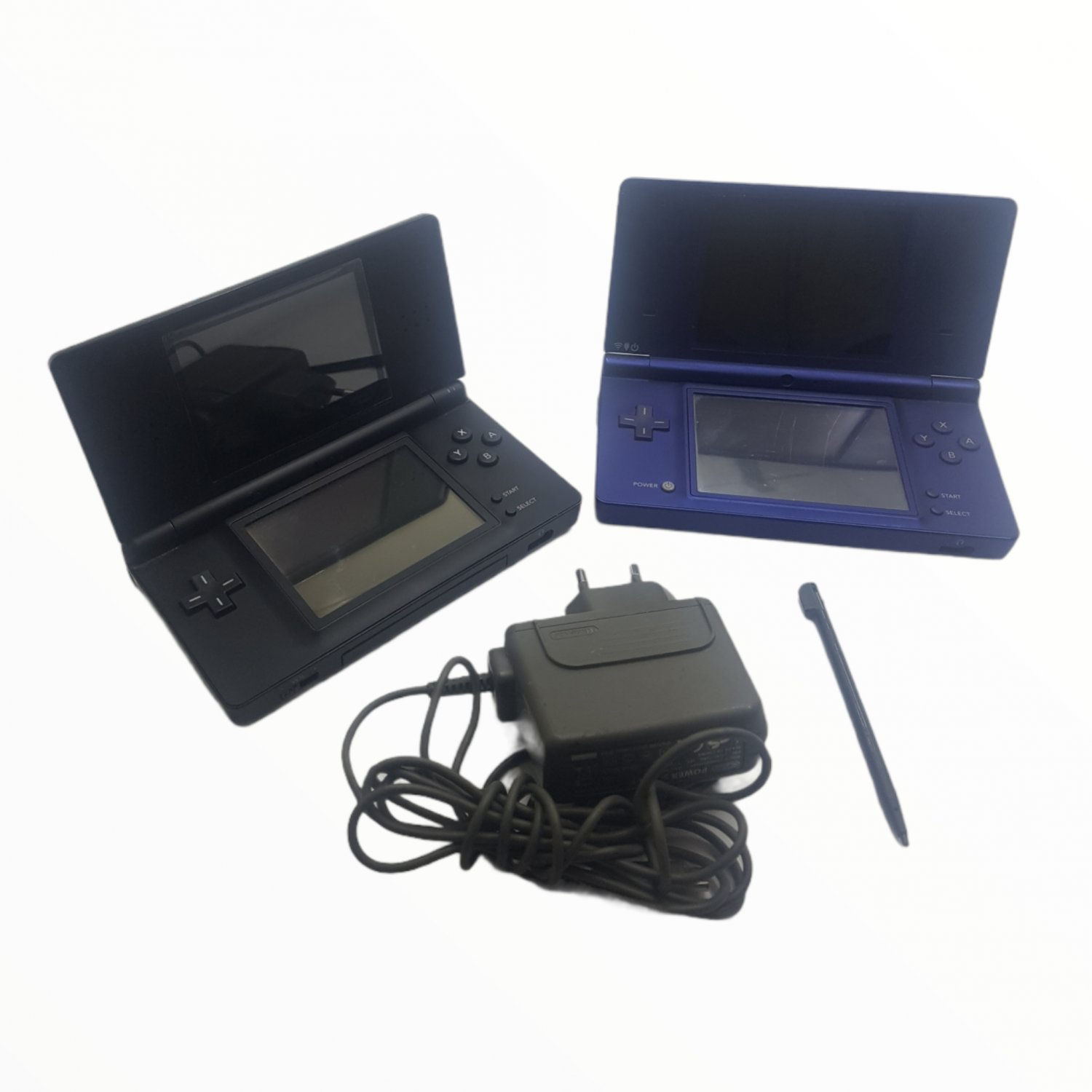 2 Nintendo DS handheld with charger