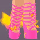 Royale High sky high butterfly heels, in-game avatar accessories