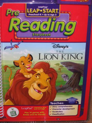 New Lion King pre-reading LeapPad Leap Pad book and cartridge