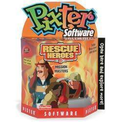 New Fisher Price Pixter Software cartridge Rescue Heroes Mission Masters NIB