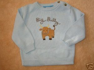 NWT Gymboree Wild West Big Bully sweater 3-6 new