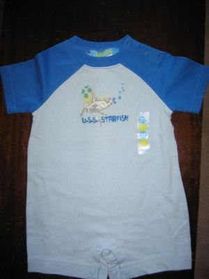 NWT Gymboree Deep Sea USS starfish romper 3-6 new