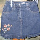 NWT Gymboree Wildflower fields denim skort 8 new