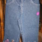 NWT Gymboree Glamour Princess jeans denim capri pants 5