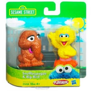 New Sesame Street figures Snuffleupagus Snuffy and Big Bird set