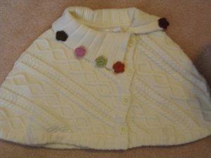 NWT Gymboree Rocky Mountain capelet sweater 5 6 new