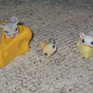 Littlest Pet Shop rat mouse cheese 115 116 white mouse 30