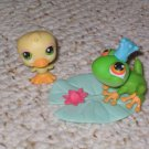 Littlest Pet Shop royal frog prince 50 duck 51 lilypad