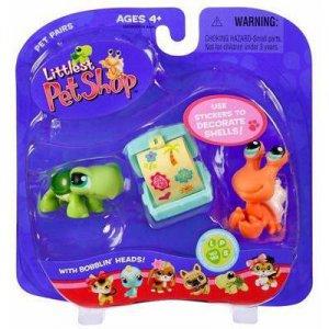 New Littlest Pet Shop Crab and Turtle set 187 188