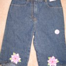 NWT Gymboree Island Fun Jeans denim capri 3T new