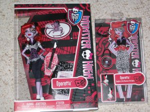 New Monster High Operetta and pet spider Memphis doll extra outfit Fashion pack