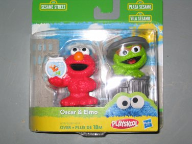 New Sesame Street figures Elmo and Oscar the grouch set