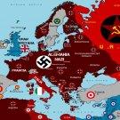 ww2 German Germany map nazi propaganda poster rare hitler ss division Swastika