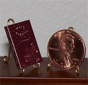 Dollhouse Miniature Book Mary Poppins P.L. Travers 1934