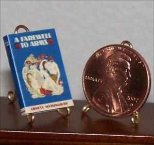 Dollhouse Miniature Book A Farewell to Arms Ernest Hemingway