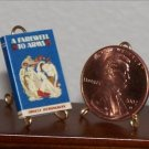 Dollhouse Miniature Book A Farewell to Arms Ernest Hemingway