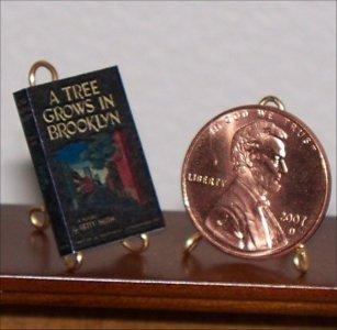 Dollhouse Miniature Book A Tree Grows in Brooklyn Betty Smith