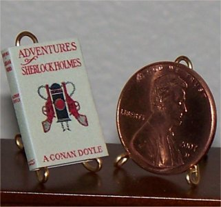 Dollhouse Miniature Book Adventures of Sherlock Holmes AC Doyle