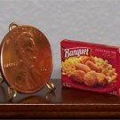 Dollhouse Miniature Chicken Nuggets Frozen Dinner 1:12