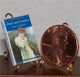 Dollhouse Miniature Book Pride & Prejudice Jane Austen