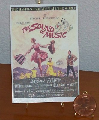 Dollhouse Miniature Sound of Music Vintage Movie Poster